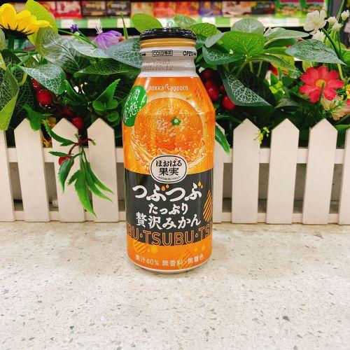 日本pokka百佳橙汁果肉饮料400ml