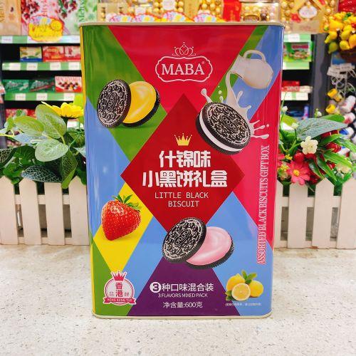 MABA牌什锦味小黑夹心饼干600g