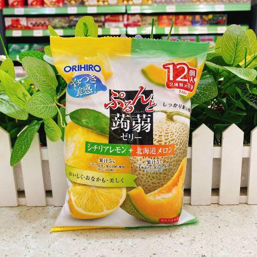日本ORIHIRO香橙+哈密瓜�X�m12个(袋装)