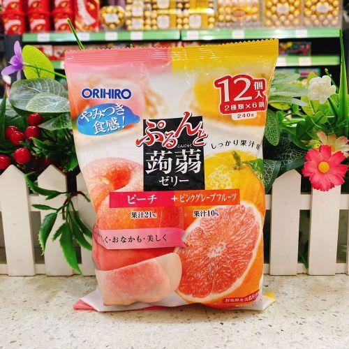 日本ORIHIRO蜜桃+西柚�X�m12个(袋装)