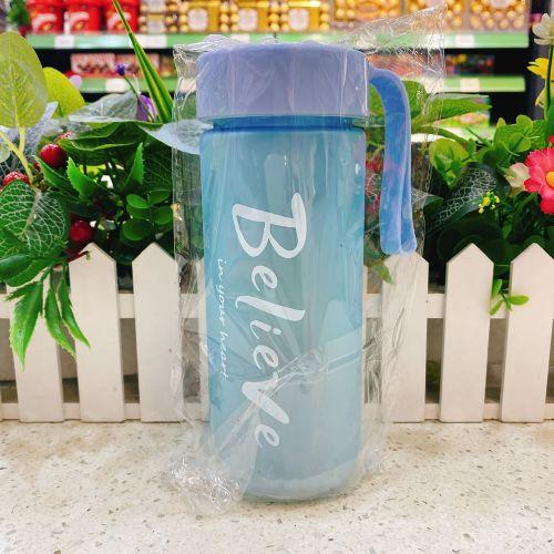 猪小淘塑料水杯600ml(浅蓝色)