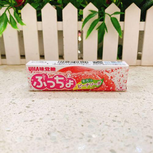 日本UHA悠哈味觉香桃梳打粒粒软糖10粒(条装)