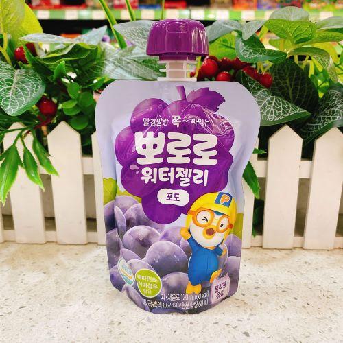 韩国啵乐乐葡萄味可吸果冻120ml