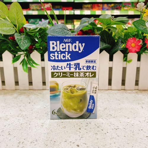 日本AGF Blendy Stick 牛奶抹茶冲剂6本(盒装)