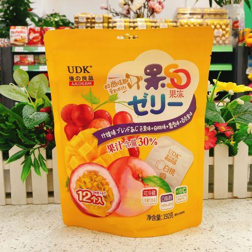 优之良品果SO果冻(芒果+白桃+ 葡萄+百香果味)192g