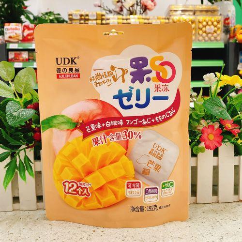 优之良品果SO果冻(芒果+白桃味)192g