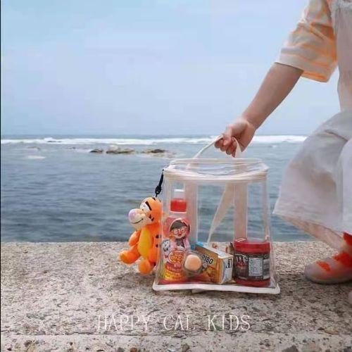 韩国儿童同款收纳包 透明背包 沙滩背包