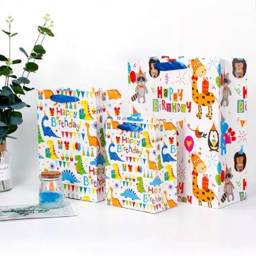 恐龙图案 HAPPY BIRTHDAY 生日派对 纸袋(大号)