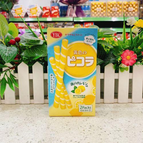 日本YBC picola濑户柠檬忌廉夹心脆条12本(盒装)