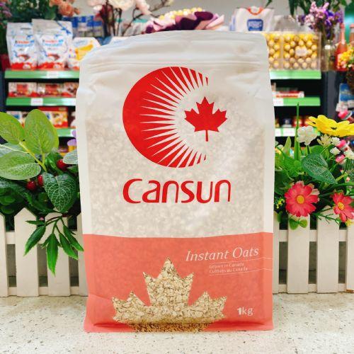 加拿大CANSUN加森太阳速食燕麦片1kg