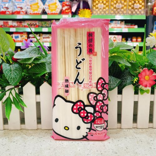 日本进口Kanesu hello kitty揖保之舞宝宝辅食婴儿乌冬面360g