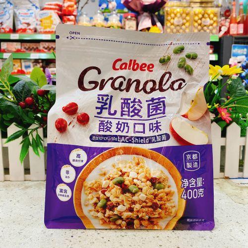日本Calbee卡乐即食麦片400g(乳酸菌酸奶口味)