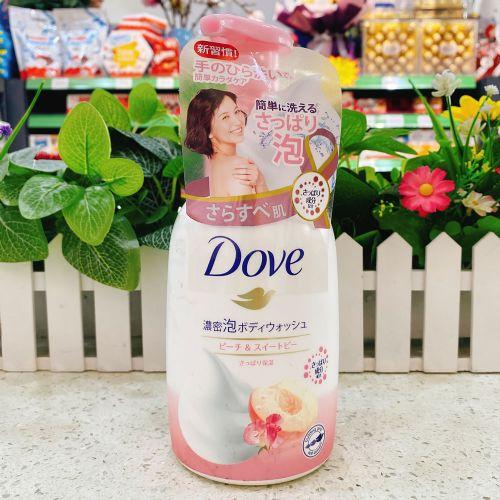 日本多芬泡泡沐浴露450g(粉色水蜜桃味)