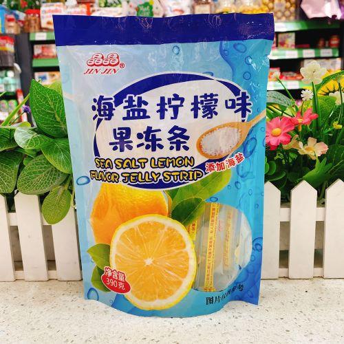 晶晶海盐柠檬味果冻条390g