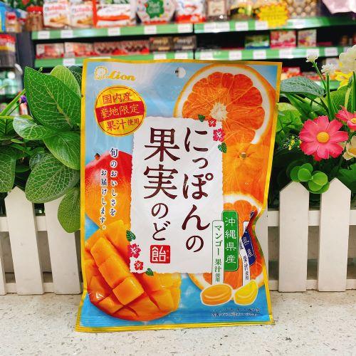 日本狮王芒果甘夏蜜柑润喉糖71g(袋装)