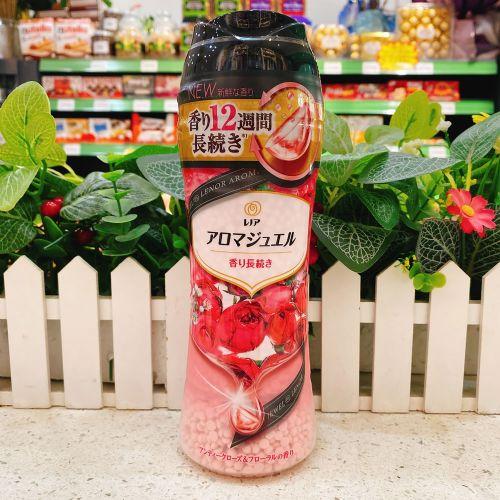 日本宝洁P&G衣物除臭芳香固体柔顺剂颗粒(钻石玫瑰香味)470g
