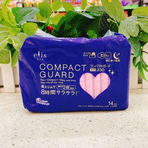 日本大王COMPACT GUARD 卫生巾14片33cm(夜用)
