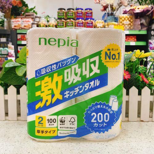 日本Nepia妮飘厨房用吸油吸水环保加厚纸巾2卷装