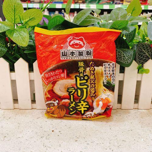 日本山本制粉日式辣猪骨汤面80g
