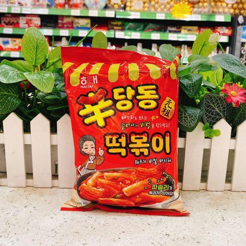 韩国海太元祖辣味年糕条110g