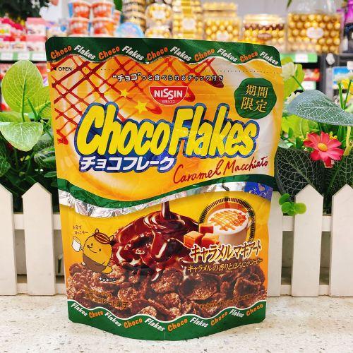 日本日清焦糖玛琪雅朵咖啡朱古力粟米片60g(企袋)