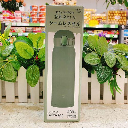 日本象印保温杯480ml(灰绿色)SM-WA48-GD