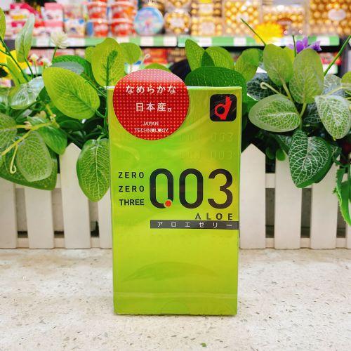 日本冈本0.03安全套避孕套10个装(绿色)